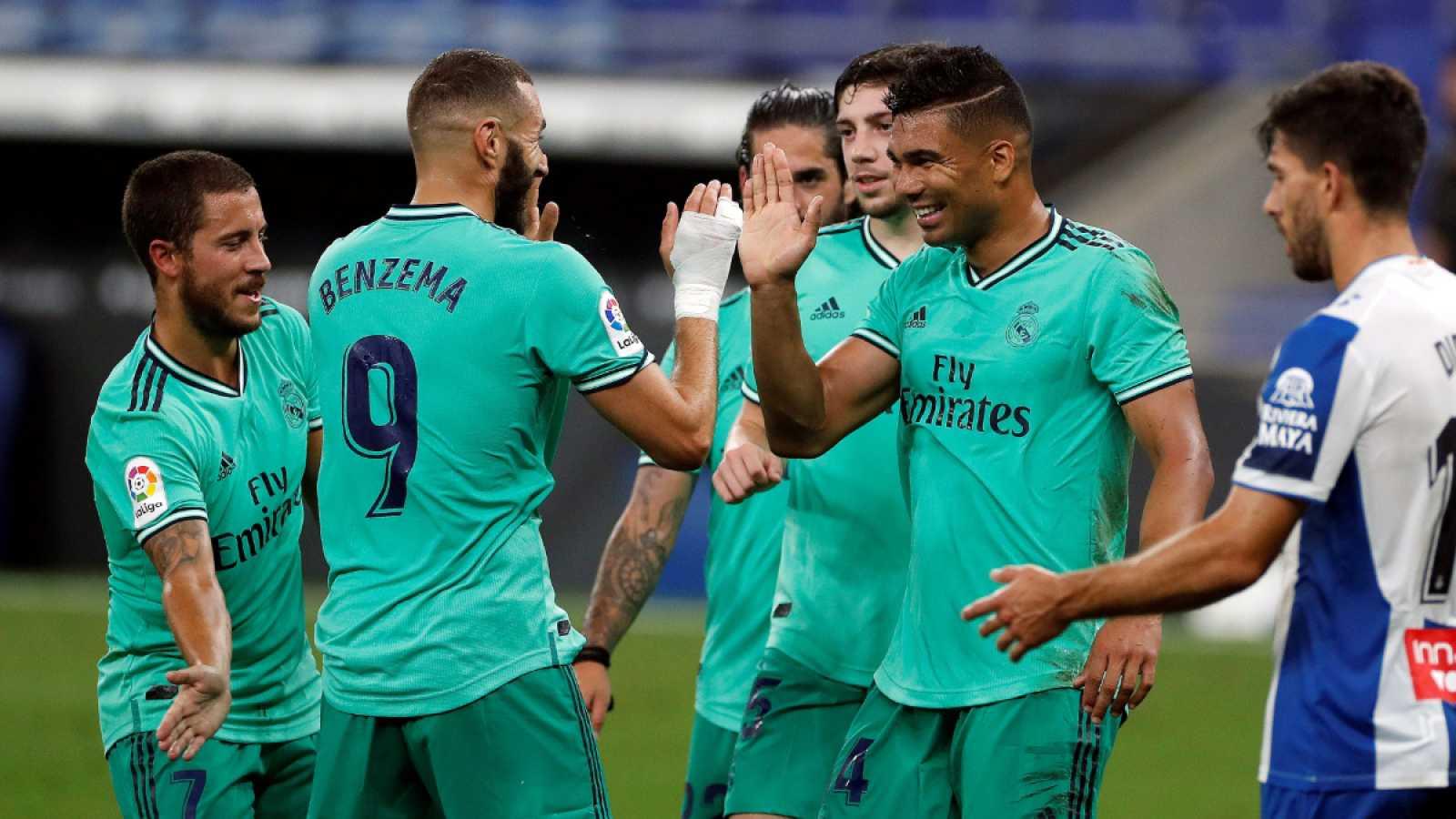 Imagen: Casemiro y Benzema celebran el gol que abrió el marcador