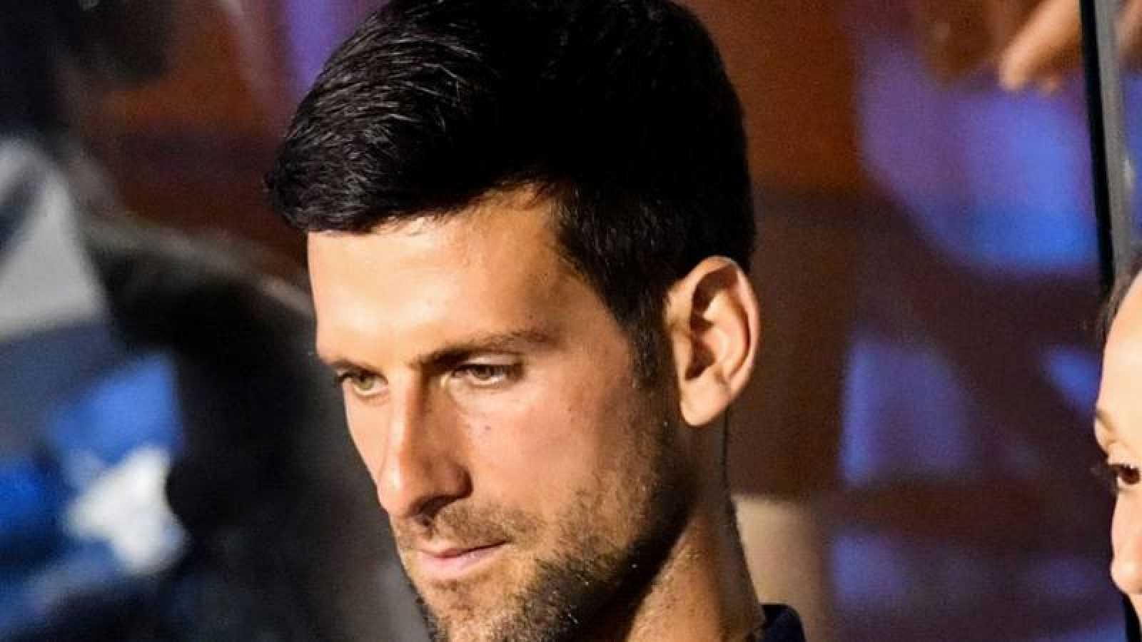 El tenista serbio Novak Djokovic durante la disputa del torneo de exhibición 'Adria Tour'