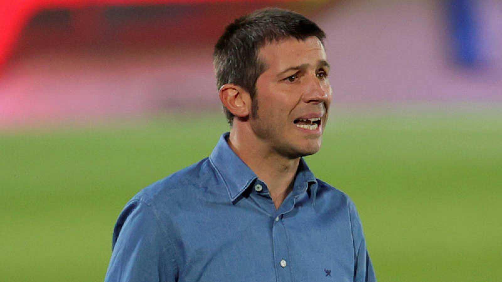 Albert Celades, durante el encuentro contra el Real Madrid de la semana pasada