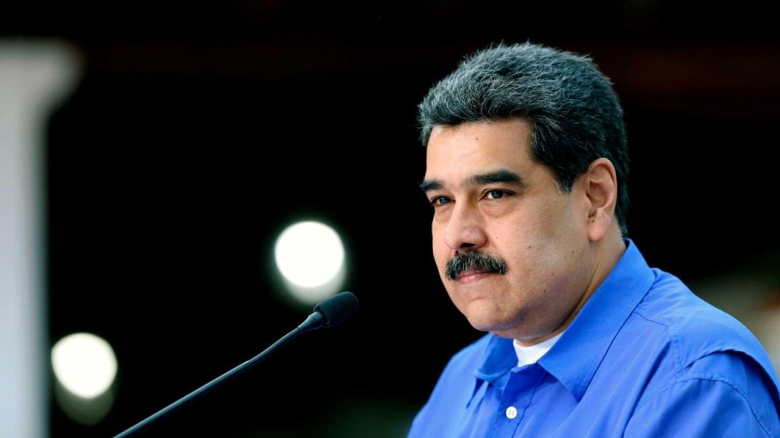 El presidente venezolano, Nicolás Maduro, durante un discurso televisado desde el Palacio Miraflores, el 22 de junio.