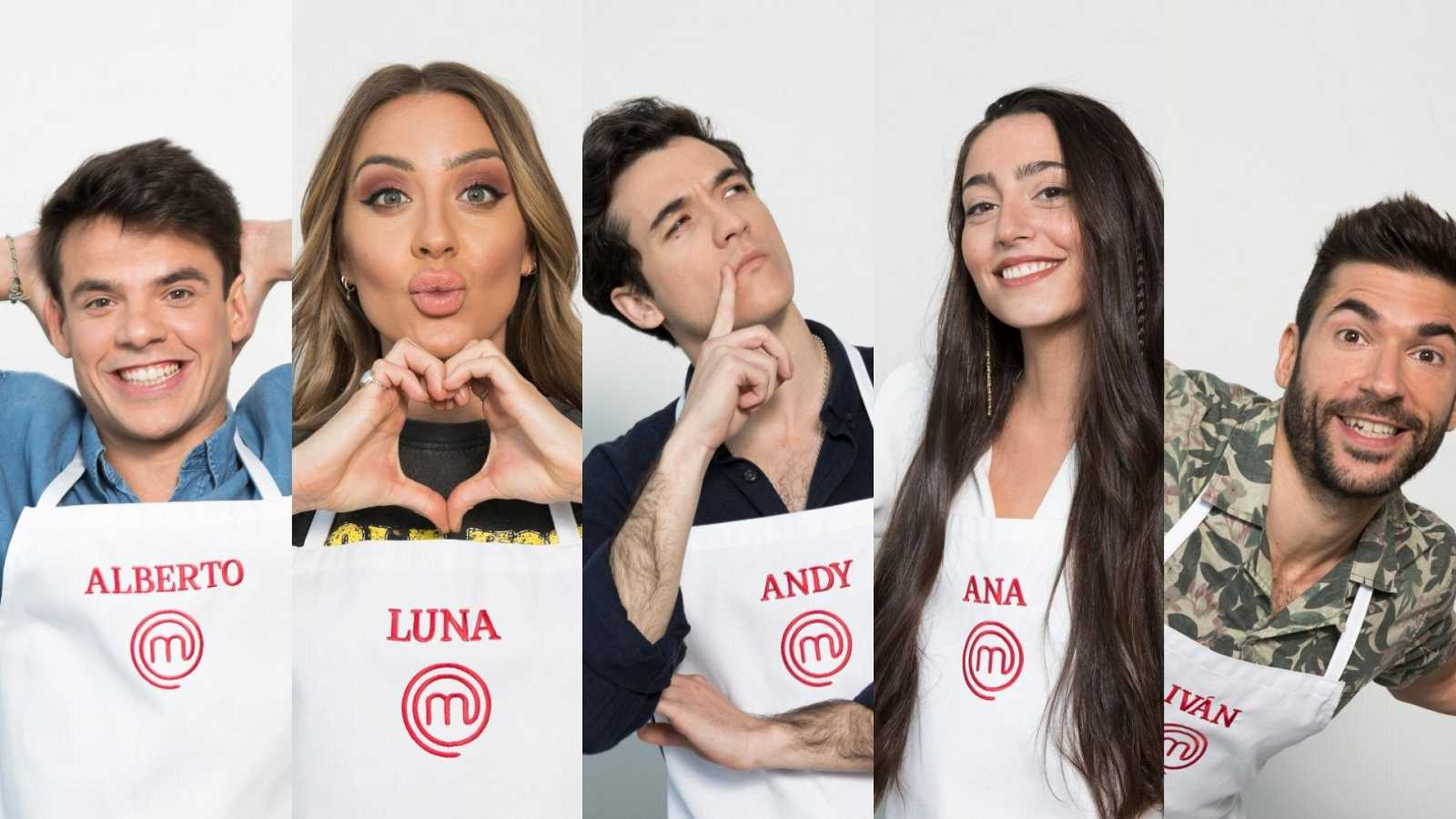Alberto, Ana, Andy, Iván y Luna, los cinco finalistas de MasterChef