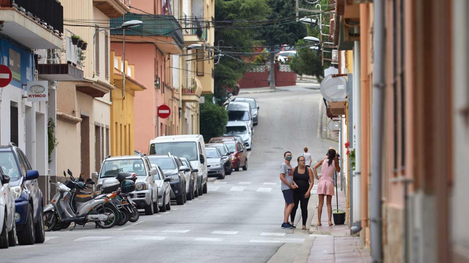 Vista de la calle Valencia, en Sant Feliu de Guíxols (Girona), donde se produjo la agresión.