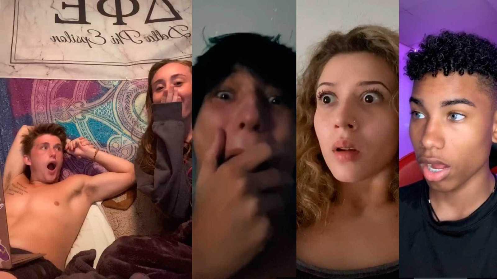 Usuarios de Tik Tok reaccionando a 'Love' de Gaspar Noé.