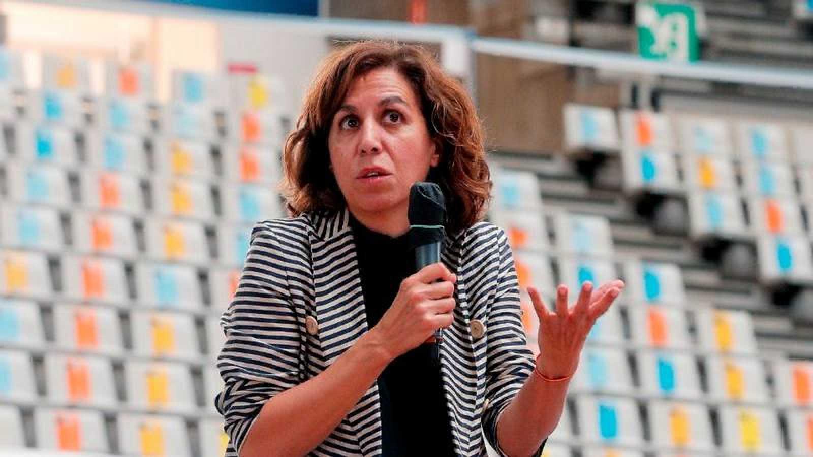 La presidenta del Consejo Superior de deportes, Irene Lozano, en un acto en Valencia.