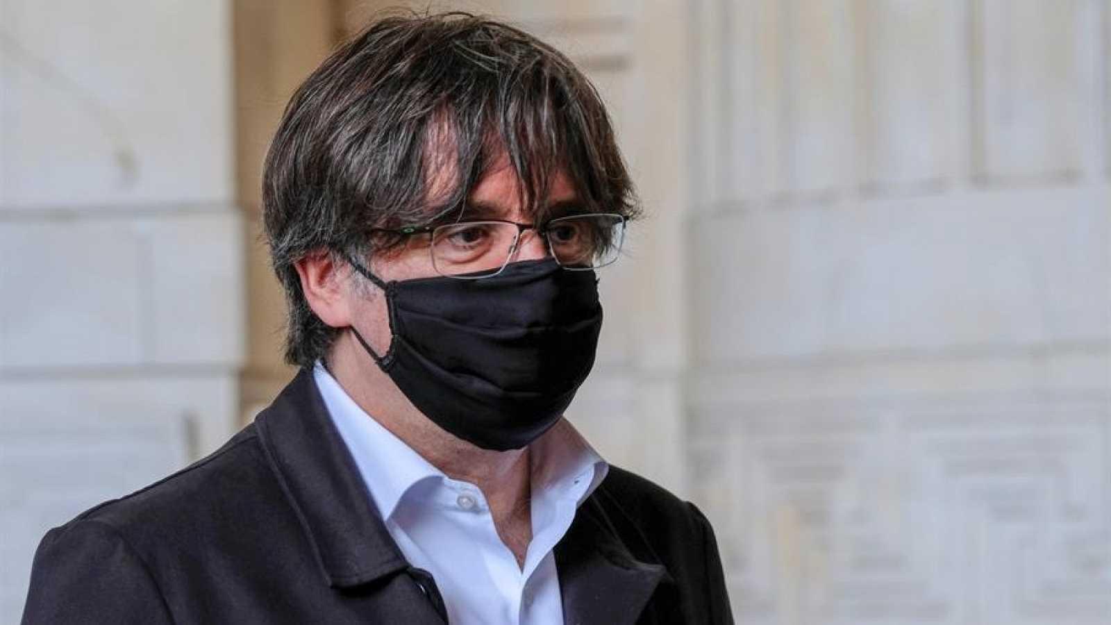 Carles Puigdemont acude al Palacio de Justicia de Bruselas (Bélgica)