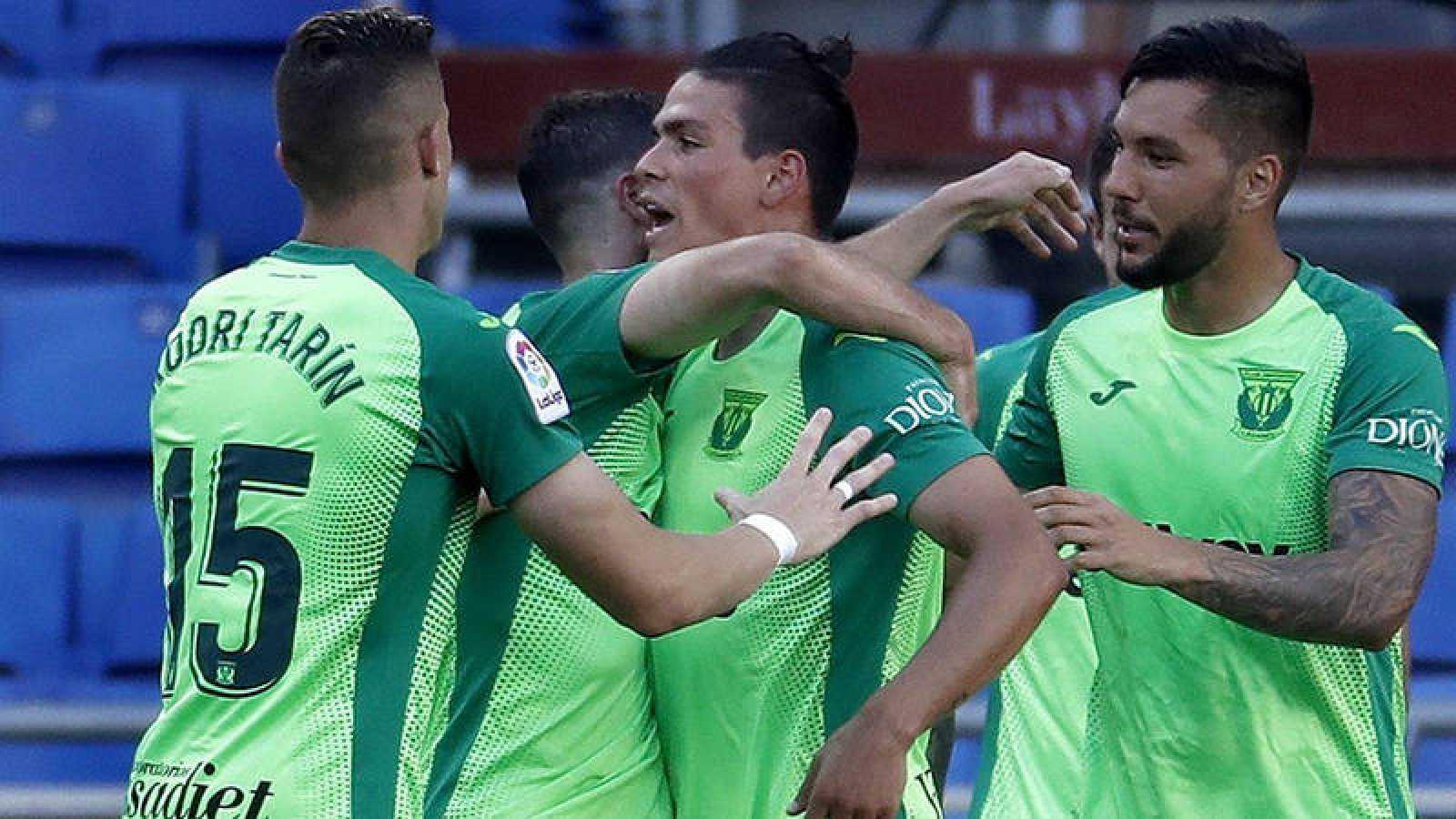 Imagen: Los jugadores del Leganés celebran el gol de Jonathan Silva