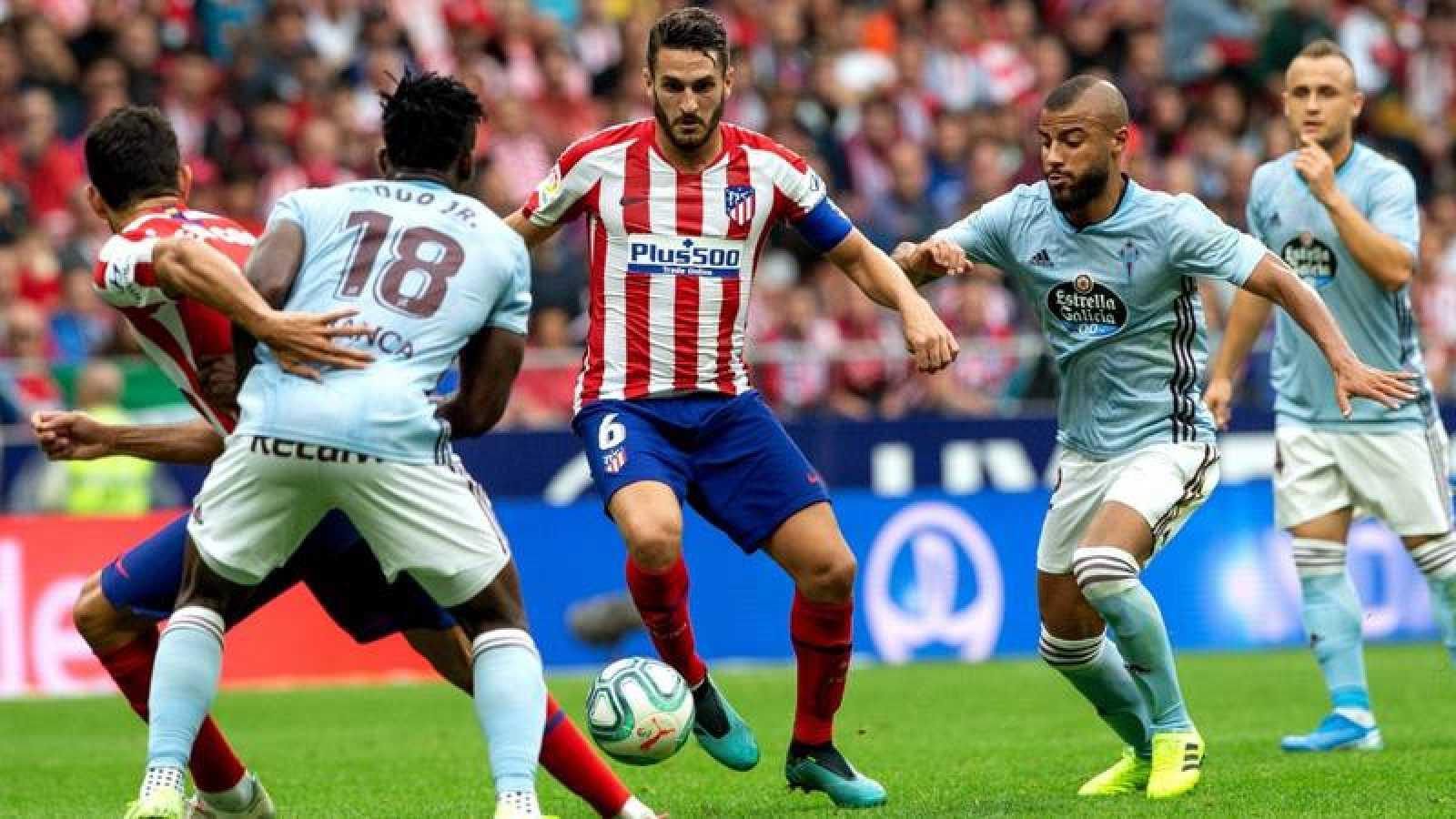 Lance del partido entre Atlético y Celta en septiembre de 2019.