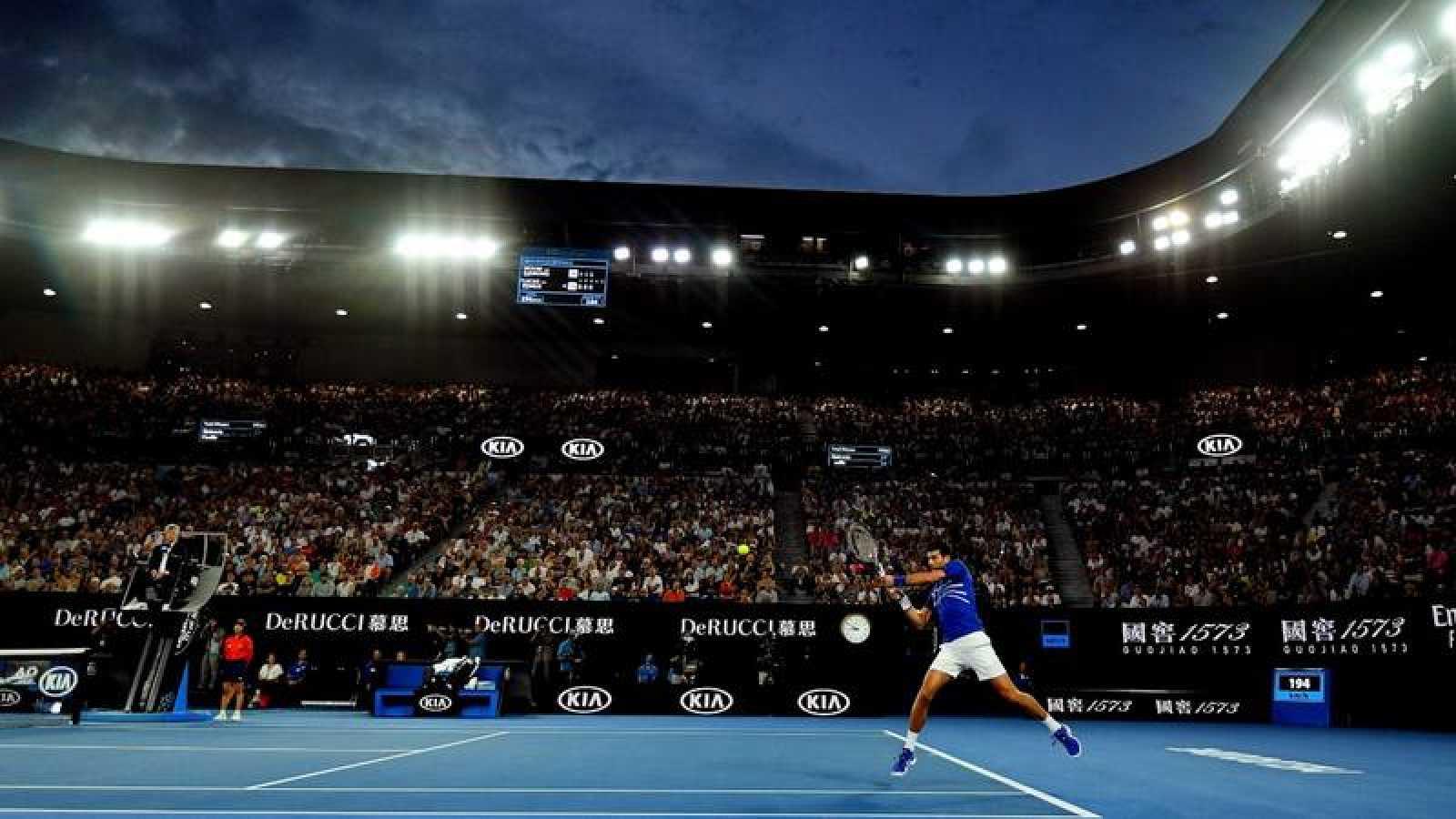 El tenista serbio Novak Djokovic durante el pasado Abierto de Australia.
