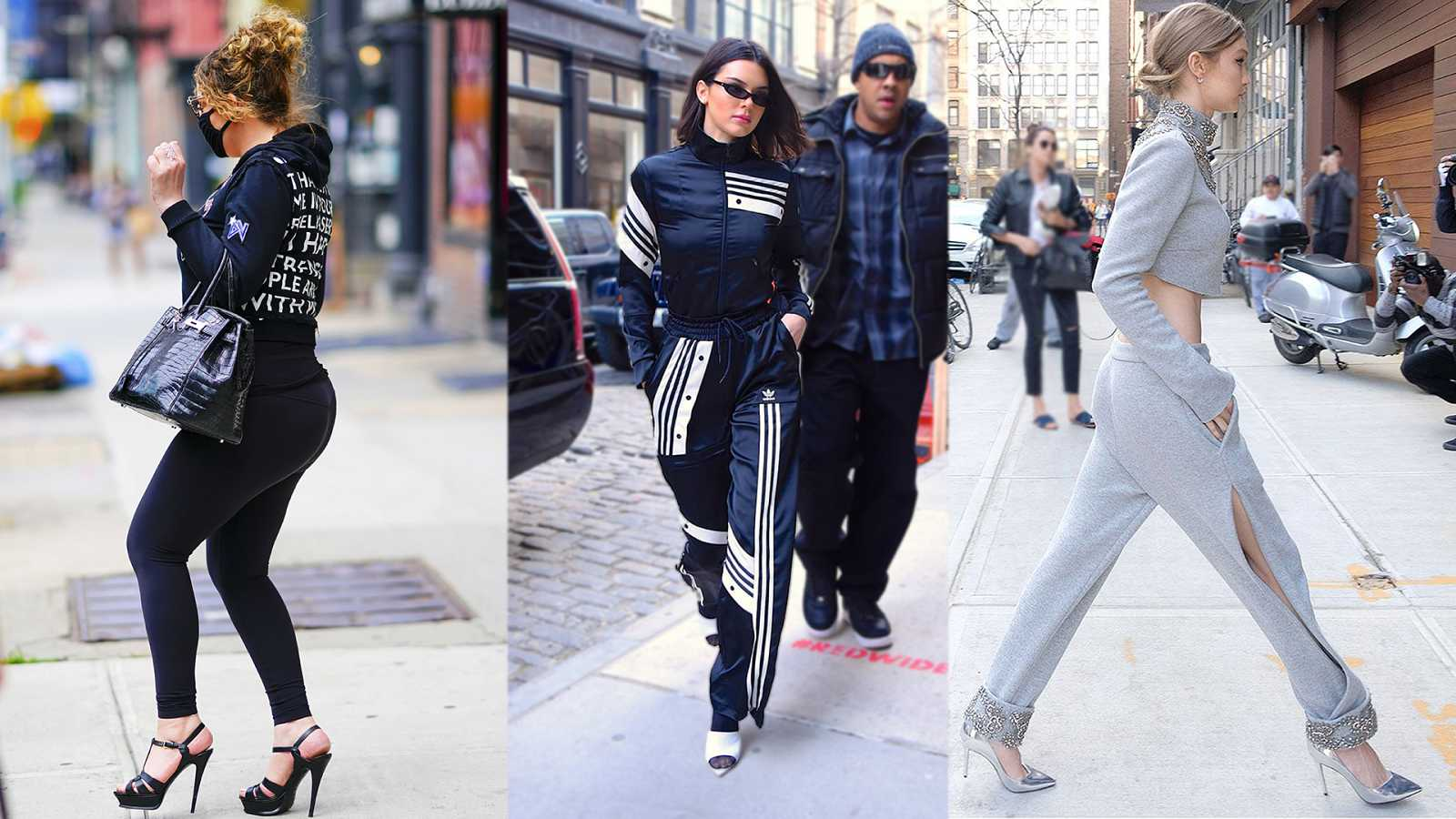 """Mariah Carey, Kendall Jenner y Gigi Hadid dicen """"sí"""" a los tacones con chándal"""