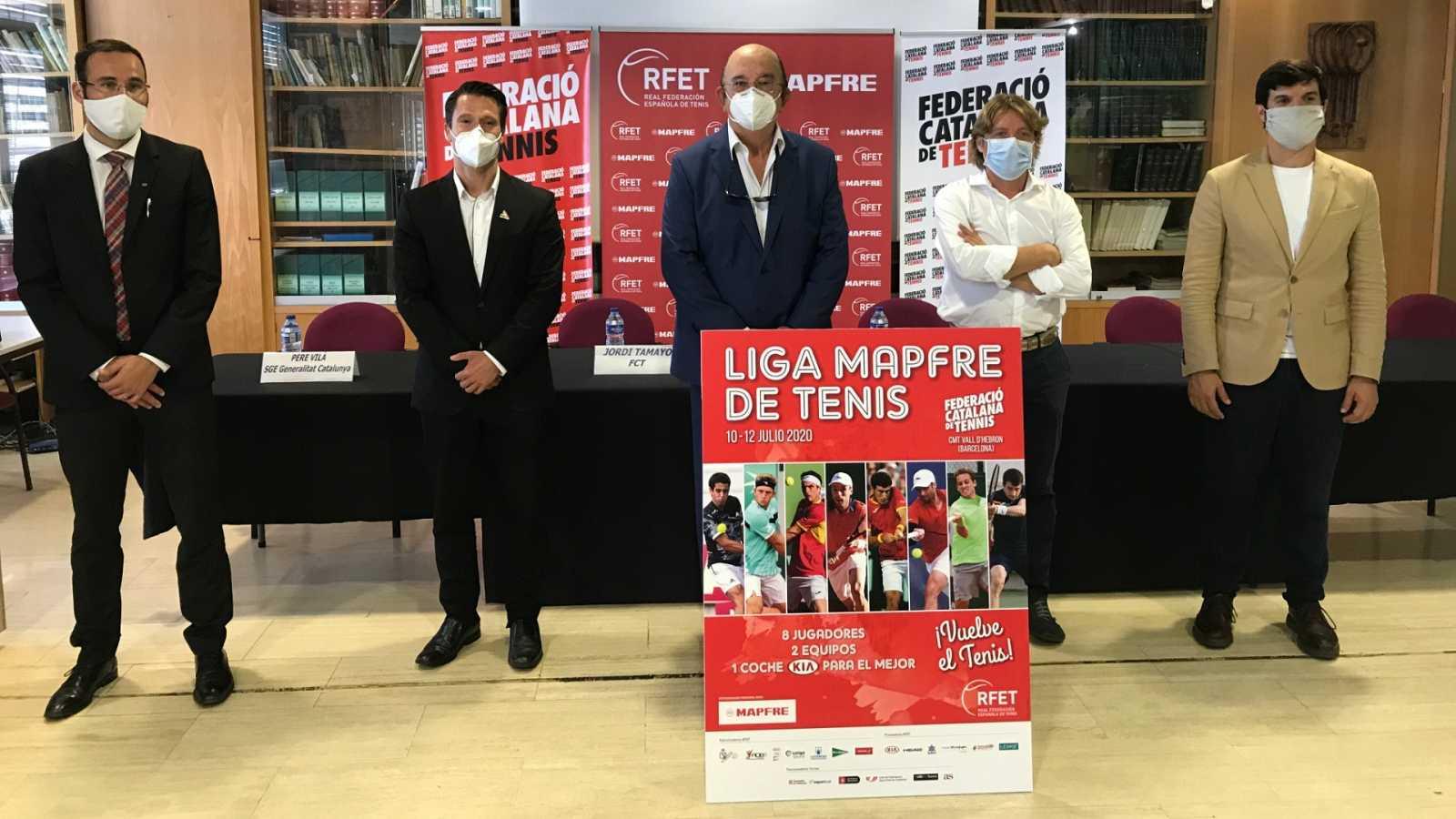 La Liga MAPFRE de Tenis presenta su torneo inaugural en Barcelona