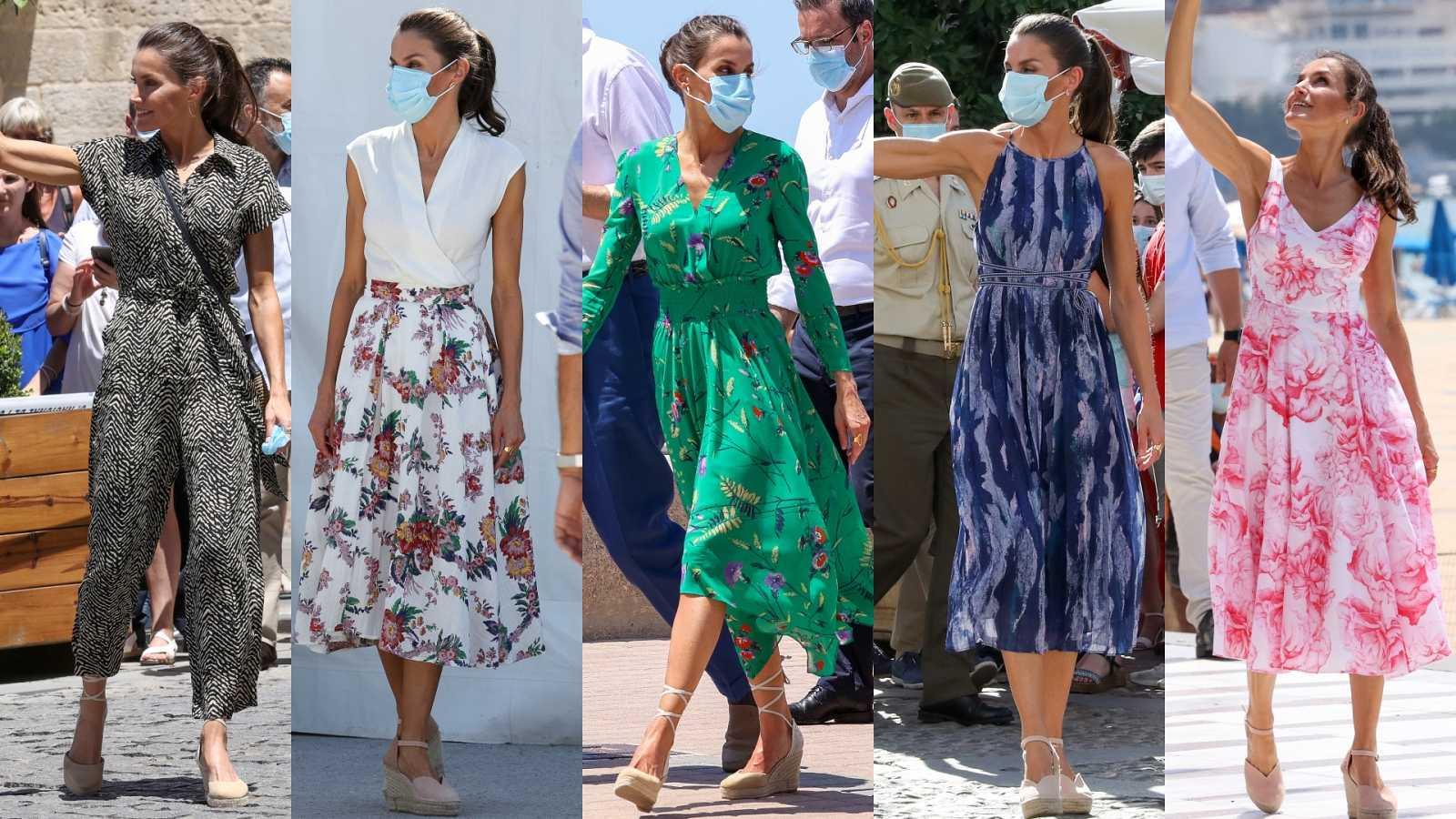 Los 'looks' de la reina Letizia en su gira veraniega por España