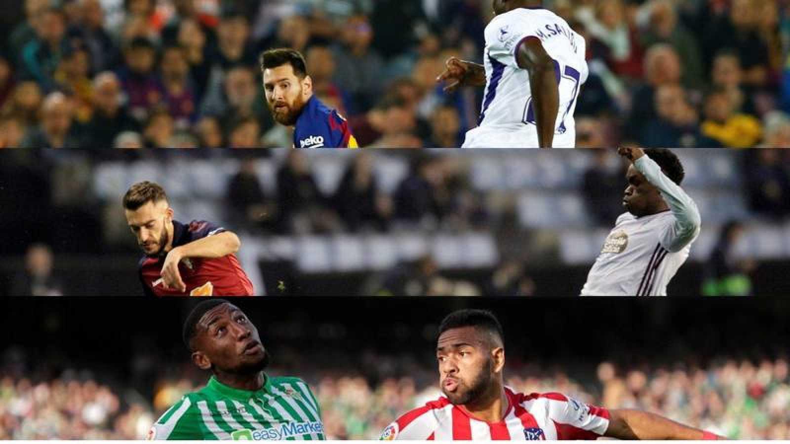 Imágenes de los encuentros Barcelona-Valladolid, Celta-Osasuna y Betis-Atlético de la primera vuelta de la Liga 2019-2020.