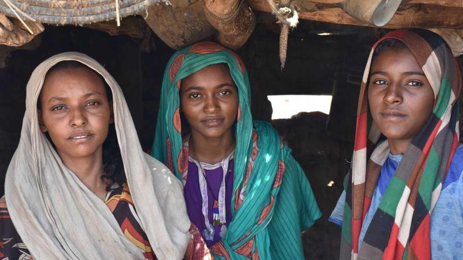 Tres mujeres sudanesas
