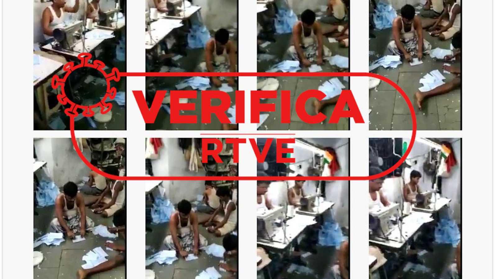 Captura de distintos fotogramas del vídeo viralizado con el sello de Verifica RTVE.
