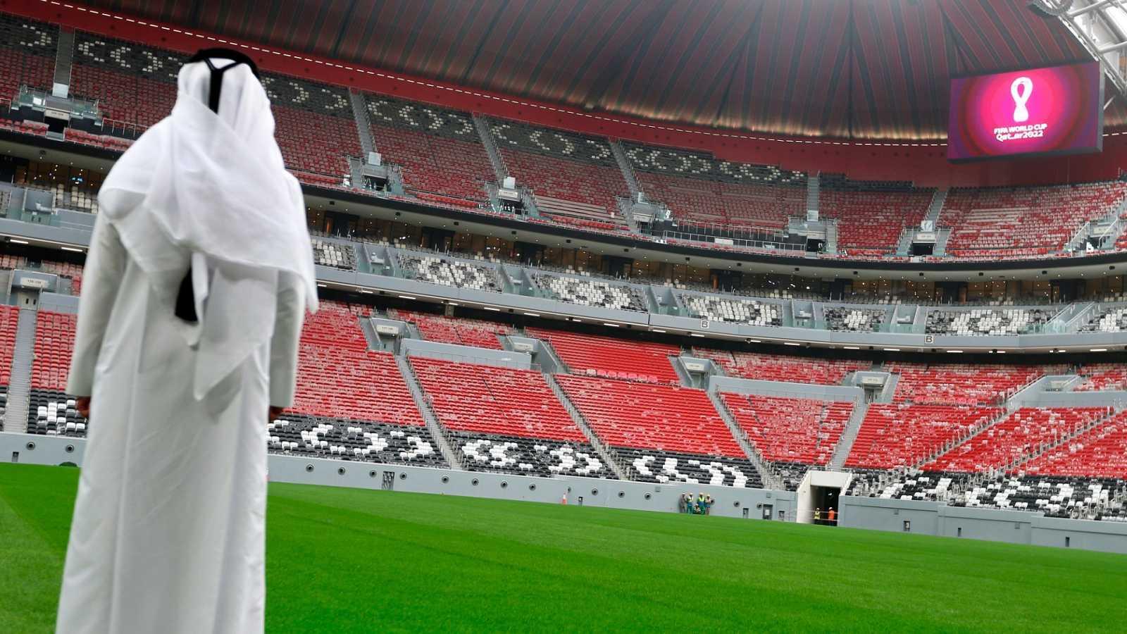 Vista del Estadio Al Bayt, una de las sedes del Mundial de Catar 2022