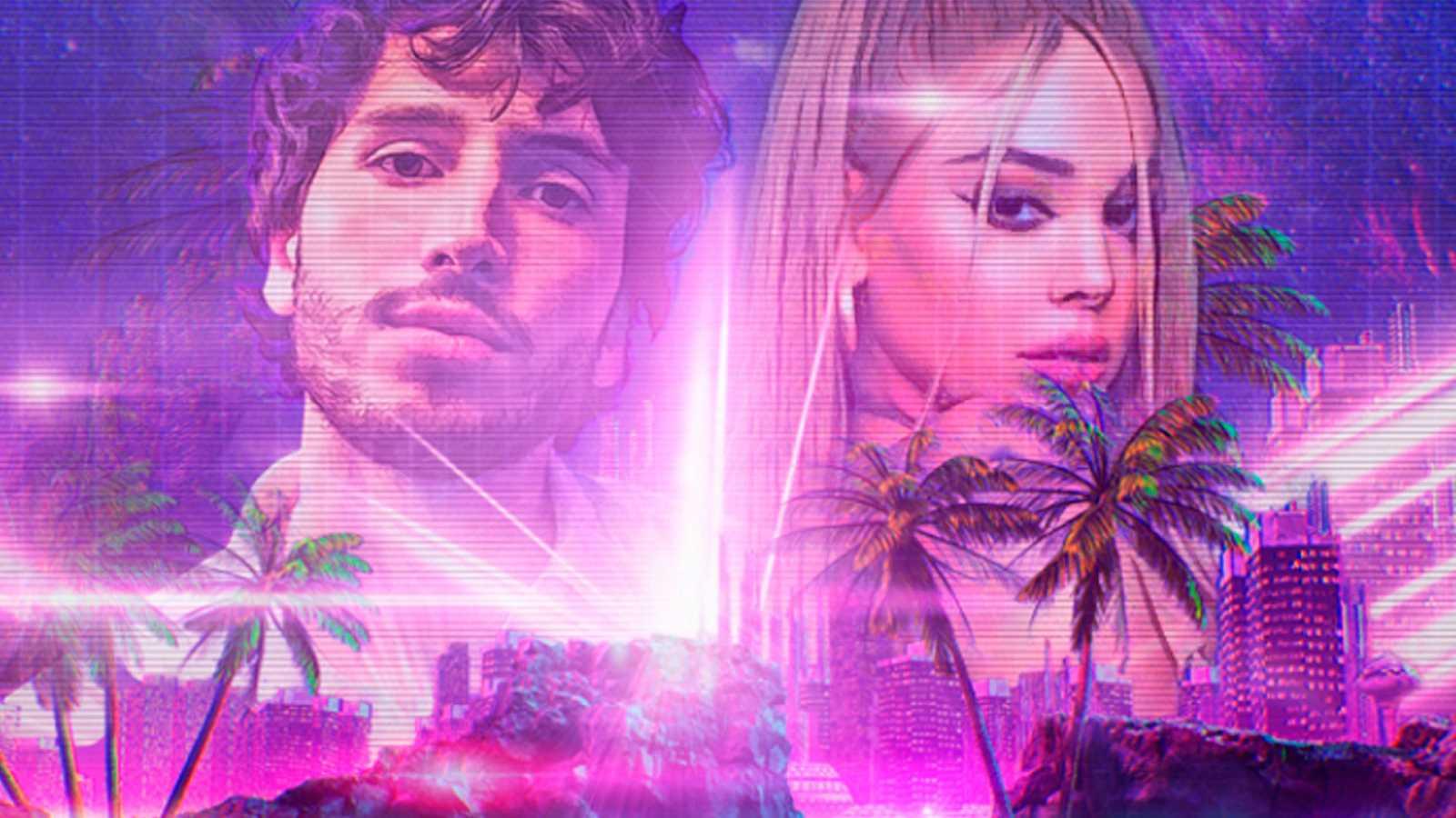 """Danna Paola y Sebastián Yatra en la imagen promocional de """"No bailes sola""""."""