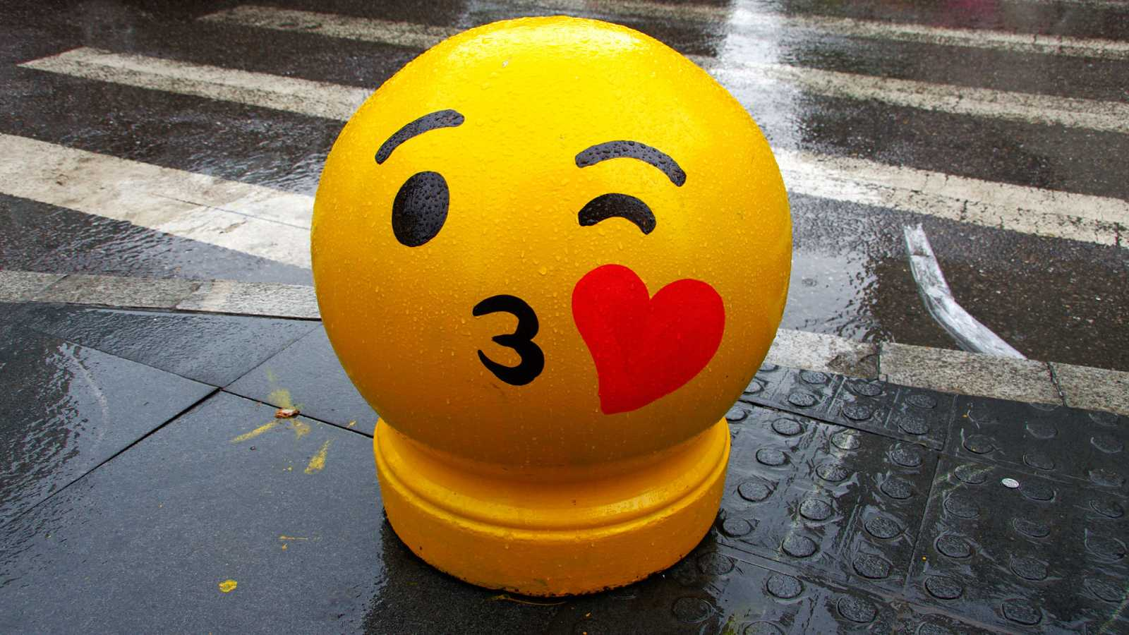 Un emoji en la provincia de Hubei province, en agosto de 2017.