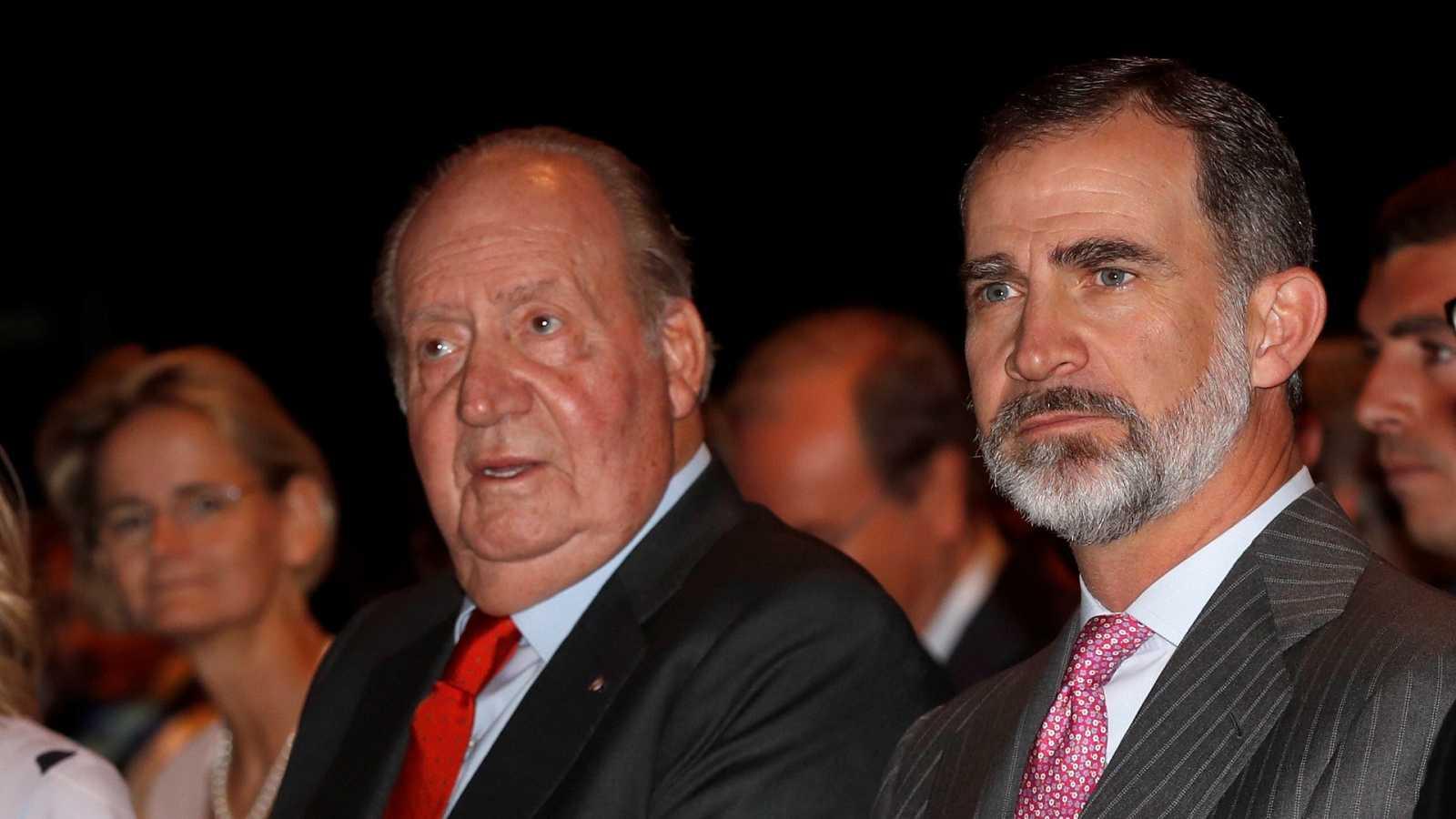 Felipe VI y Juan Carlos I, juntos en una imagen de 2018.