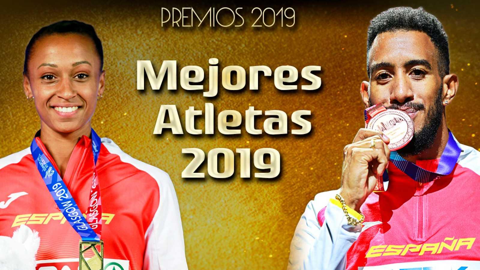 Ana Peleteiro (i) y Orlando Ortega (d), mejores atletas de 2019