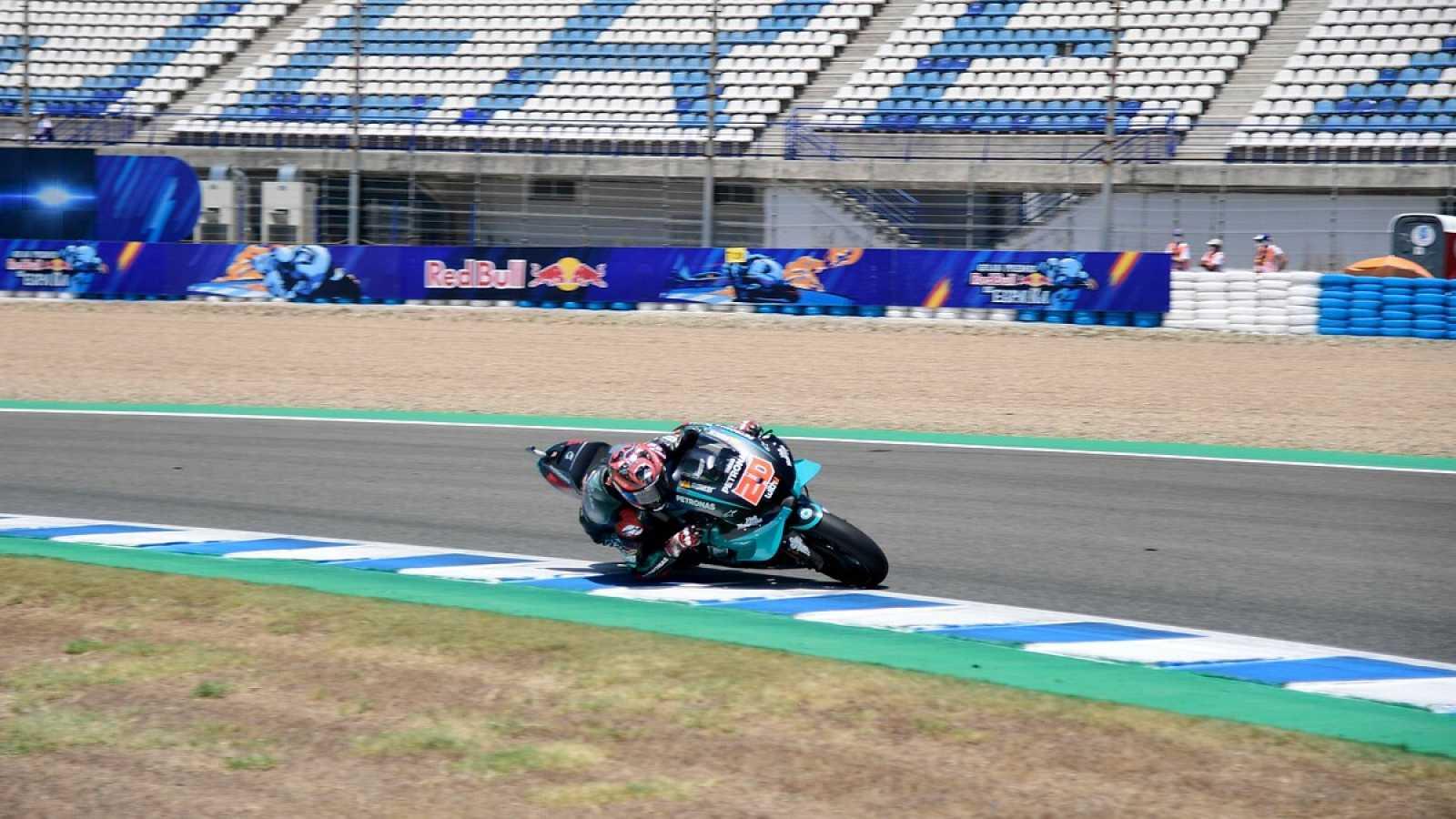 Imagen: Fabio Quartararo rueda en el circuito de Jerez