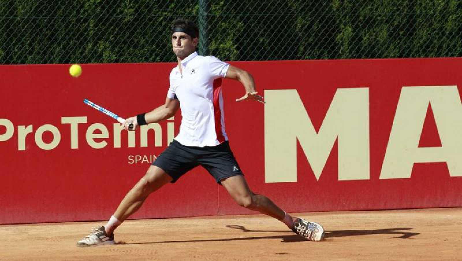 Carlos Taberner, en la Liga MAPFRE de tenis.
