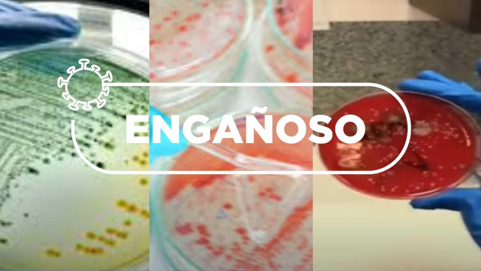 Tres capturas del vídeo experimental cortado en dos partes y utilizado de manera engañosa.