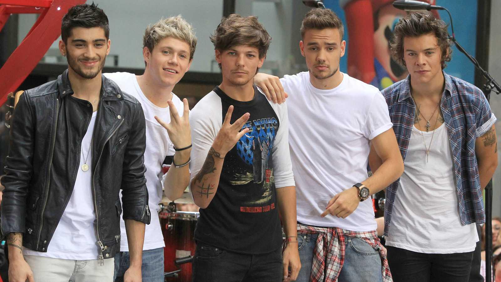 One Direction: Niall Horan, Harry Styles, Zayn Malik, Liam Payne y Louis Tomlinson en el año 2013.