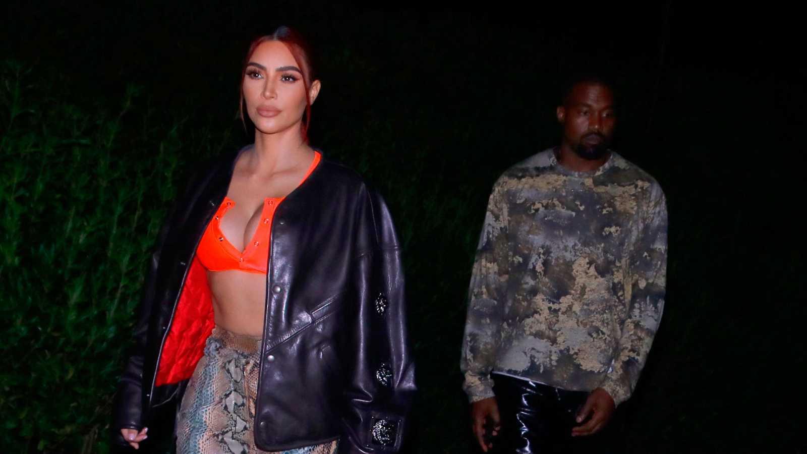Kanye West y Kim Kardashian, de paseo por Malibú el pasado mes de junio.
