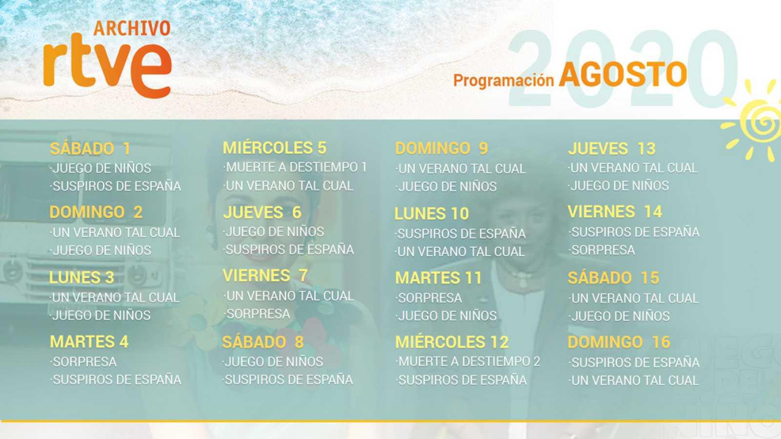 Programación verano 2020 en el Archivo de RTVE.