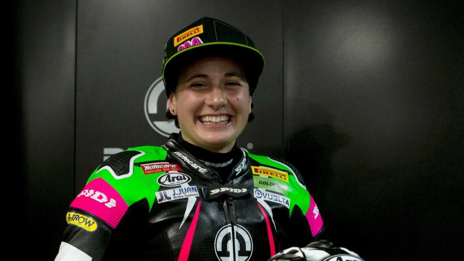 La motociclista Ana Carrasco, que en 2018 se convirtió en la primera mujer campeona del mundo