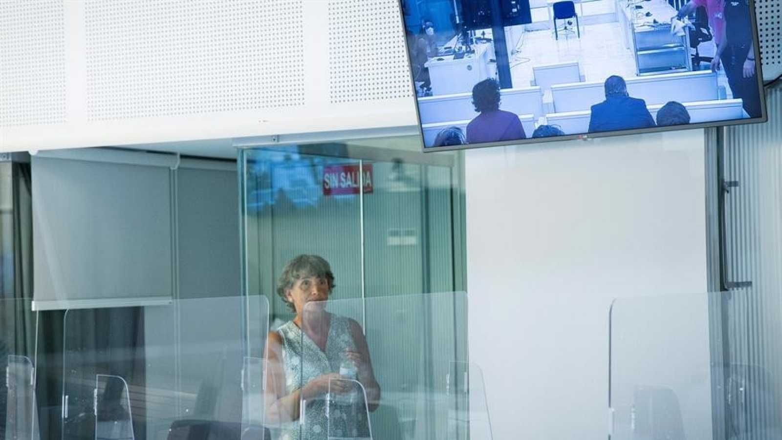 La histórica dirigente etarra Soledad Iparraguire, Anboto, durante el juicio en su contra celebrado en la Audiencia Nacional en Madrid