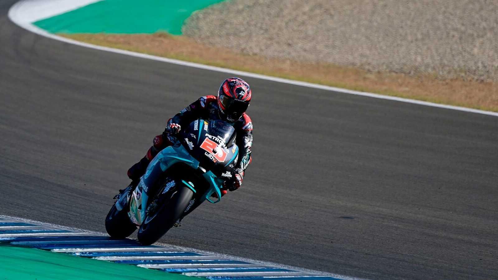 Imagen: Fabio Quartararo rueda en el circuito Ángel Nieto de Jerez