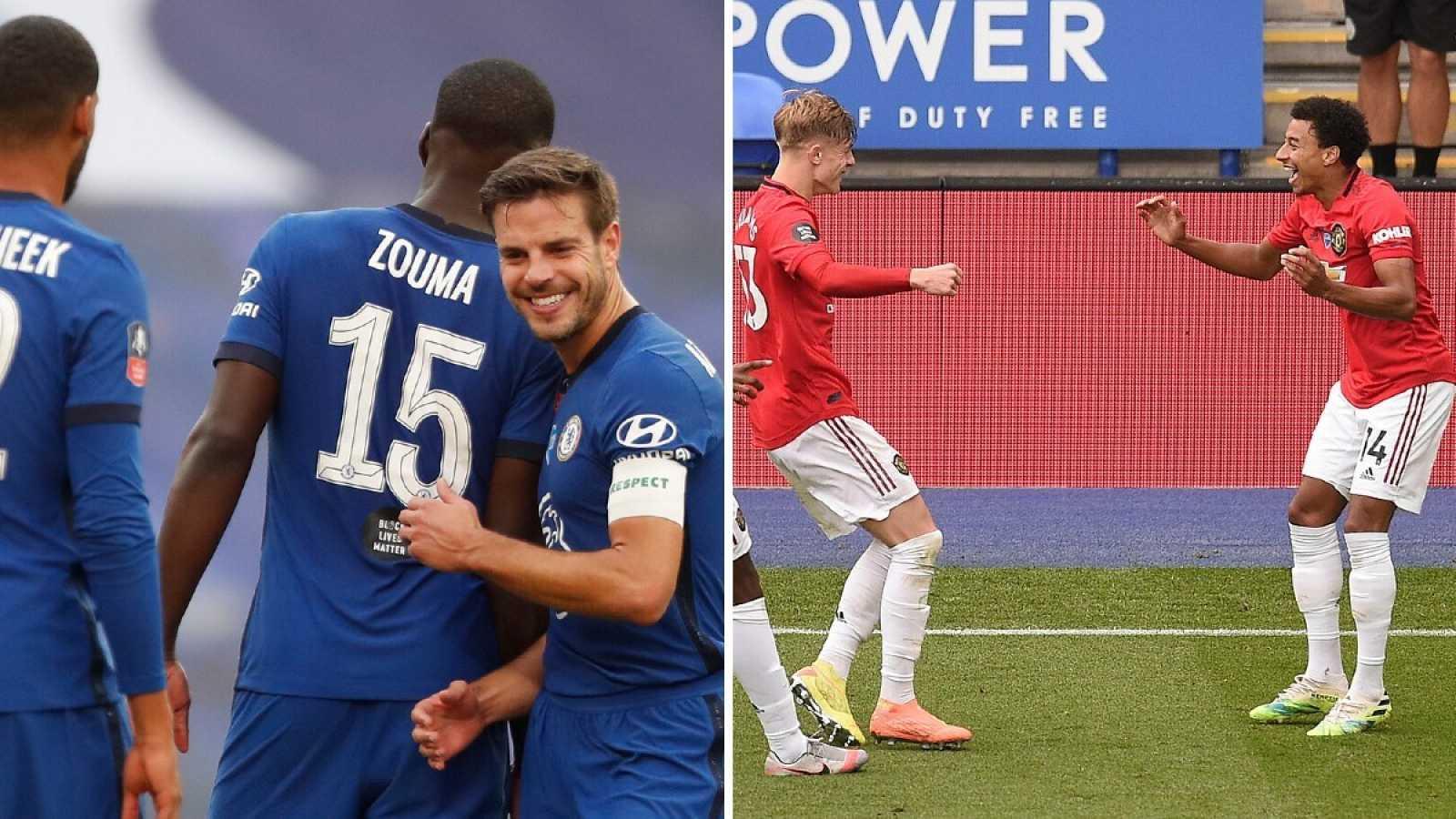 Imagen: Chelsea (i) y Machester United (d) acompañarán a Liverpool y City en la Champions