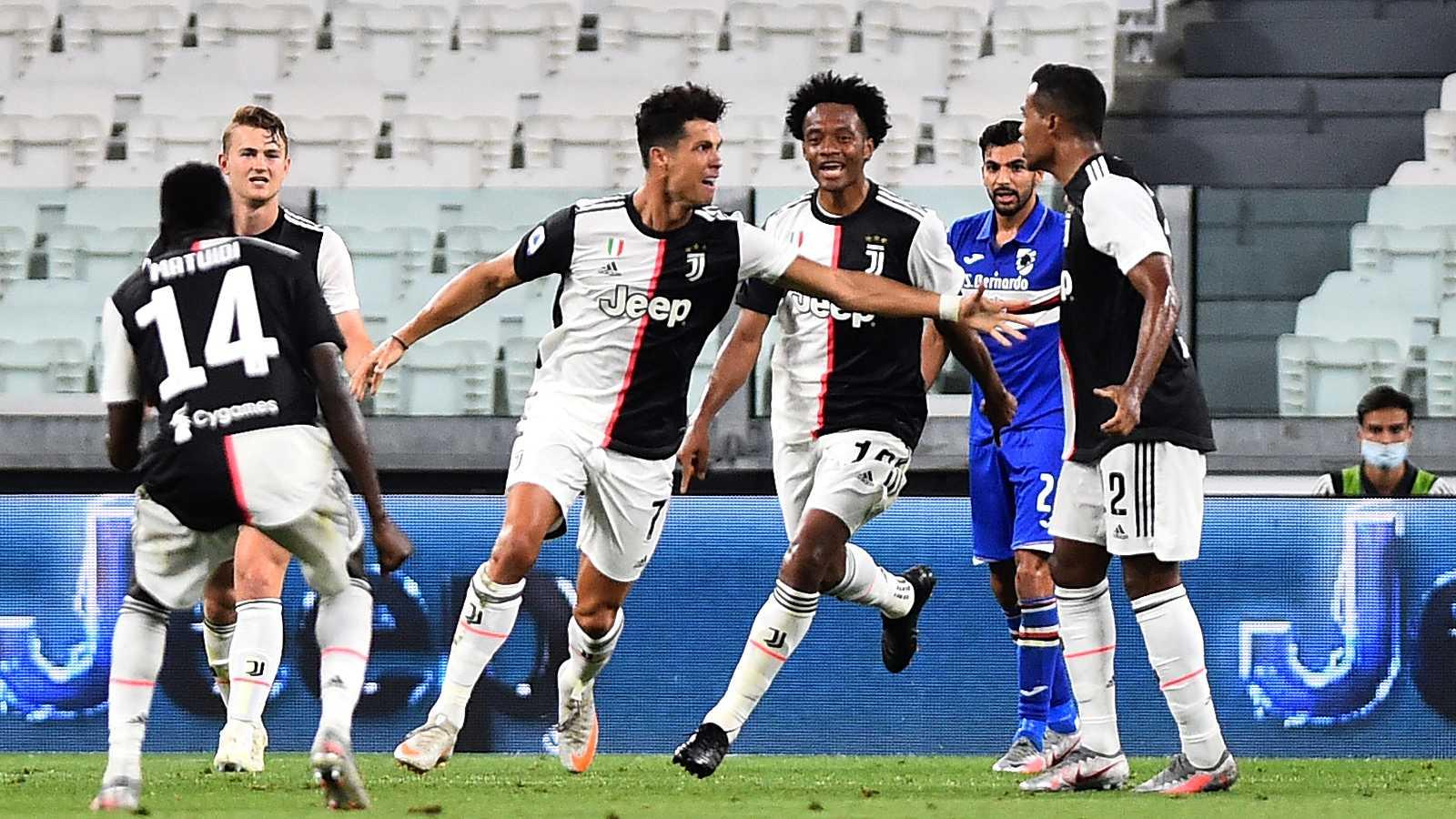 Cristiano contra la Sampdoria
