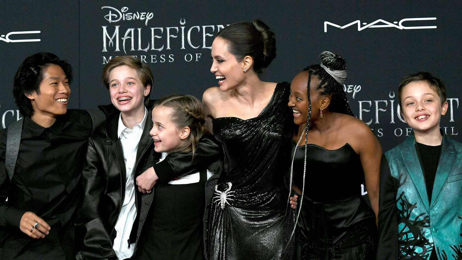 Angelina Jolie, madre de familia numerosa