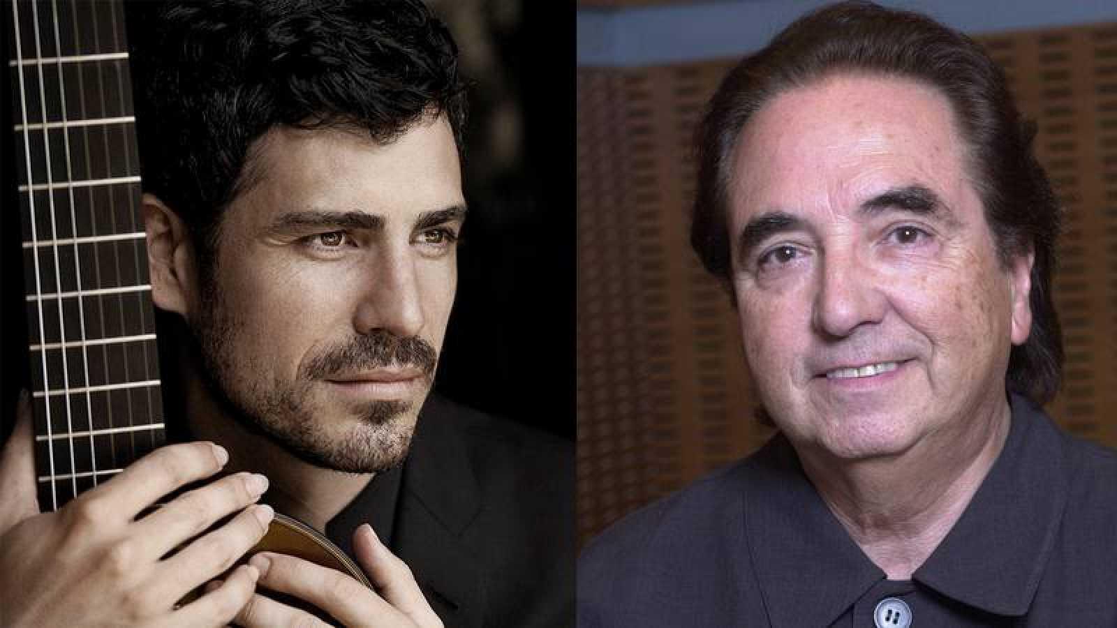 El guitarrista Pablo Sáinz Villegas y el director Enríque García Asensio