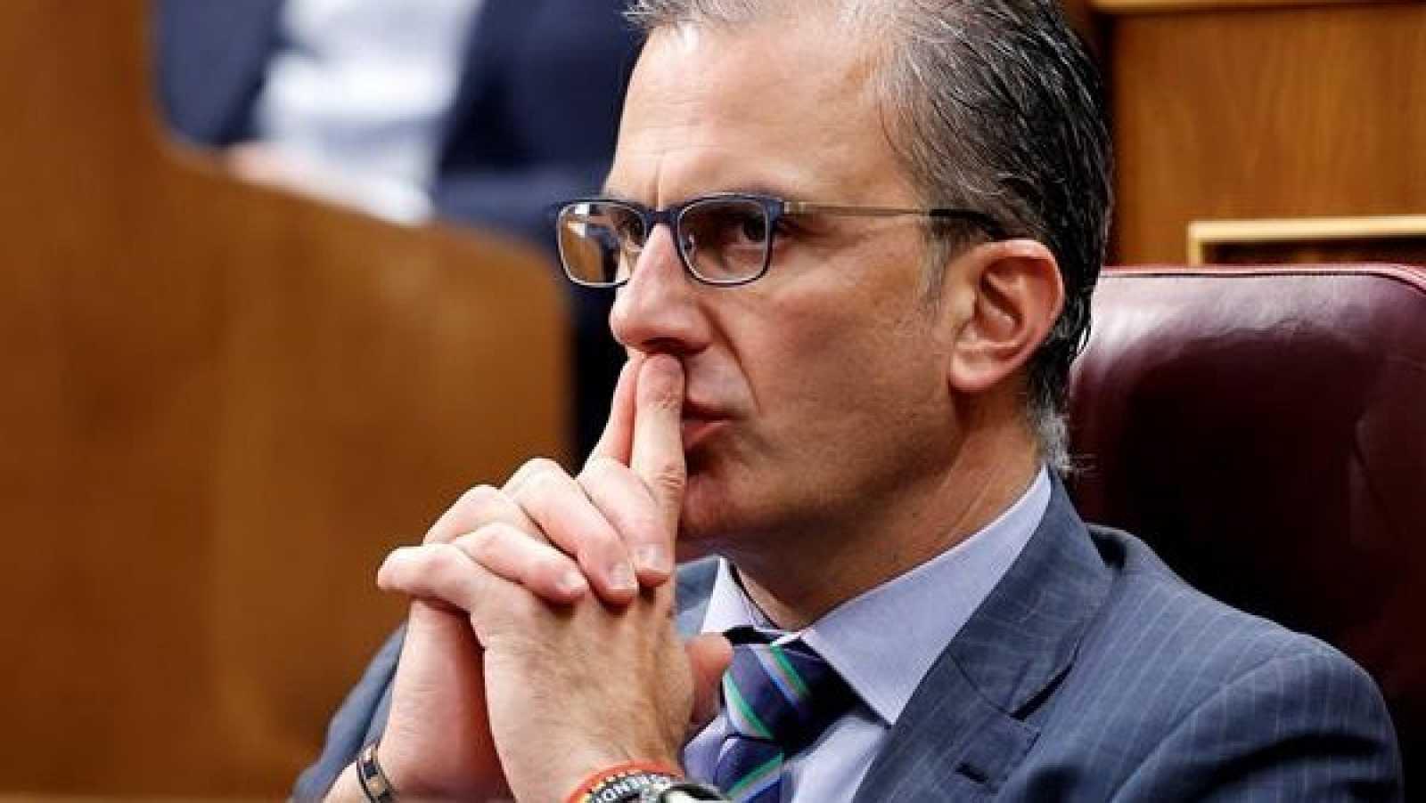 El diputado de Vox, Javier Ortega Smith, en el Congreso de los Diputados