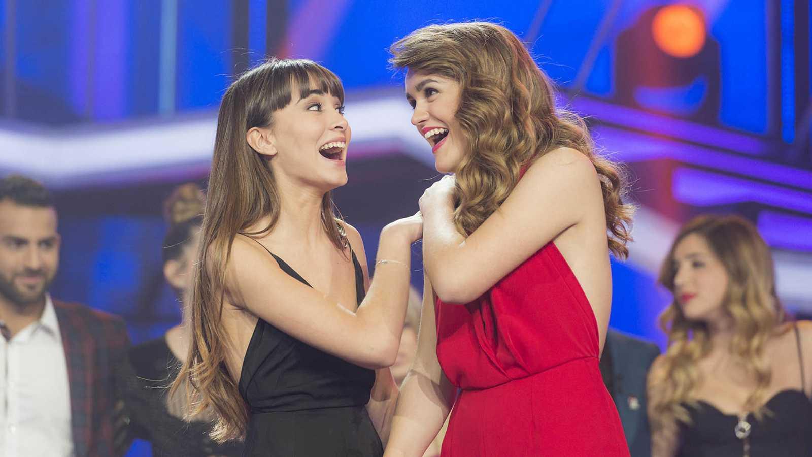 Aitana y Amaia en la gala final de OT 2017