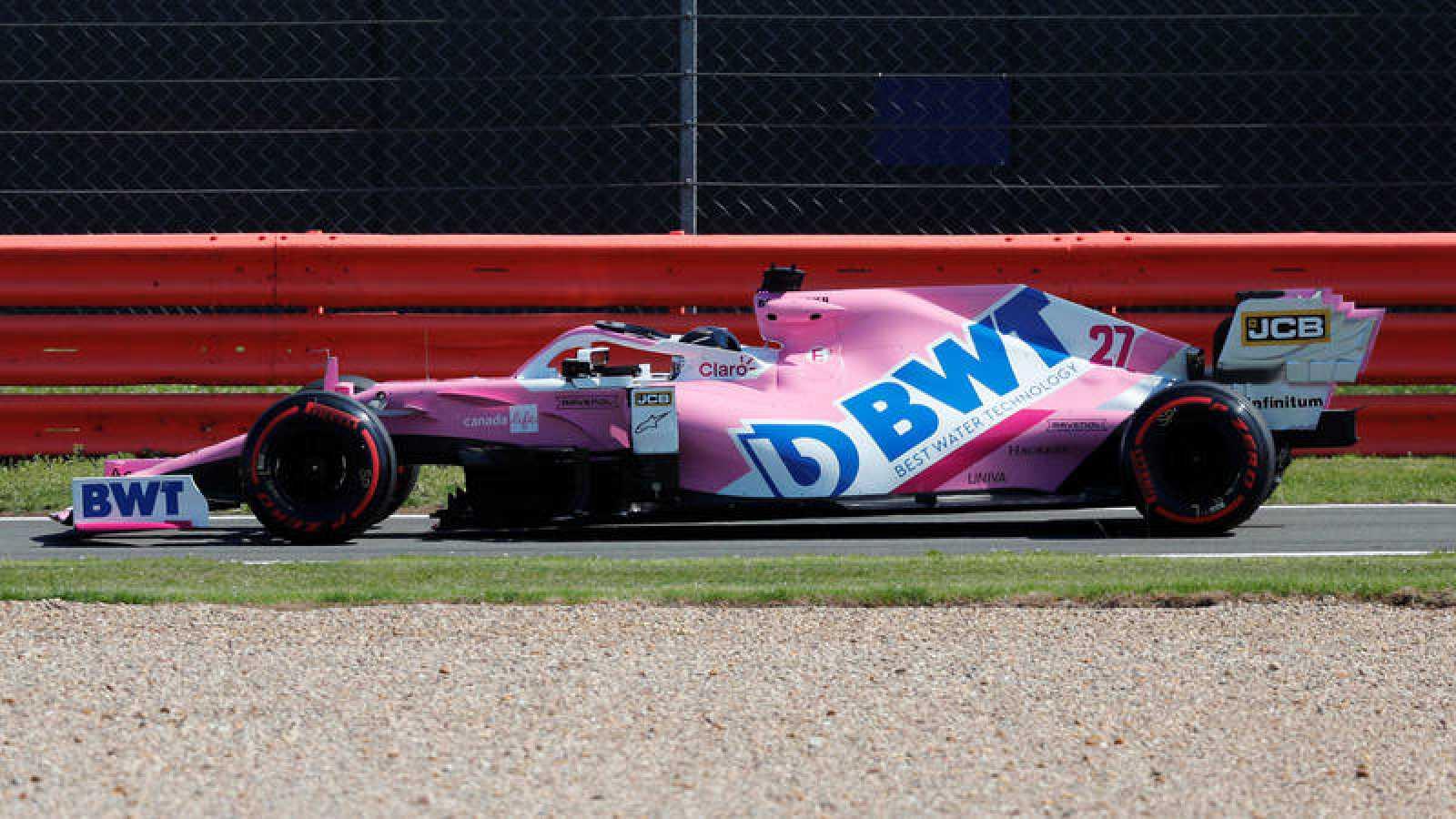 Nico Hulkenberg, en los entrenamientos en Silverstone