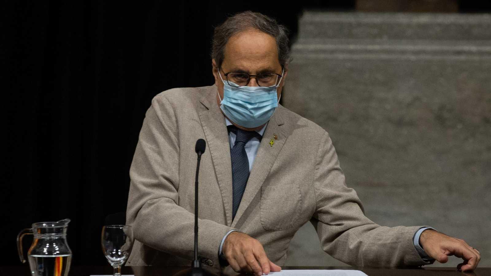 El Tribunal Constitucional estudiará la decisión del Supremo de mantener la retirada del escaño a Torra
