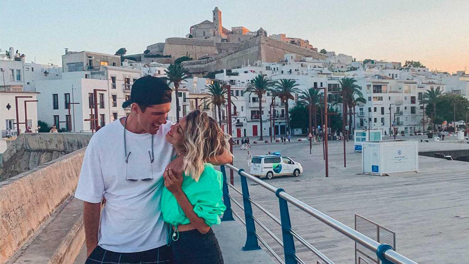 Nerea Rodríguez con Hektor Mass en Ibiza