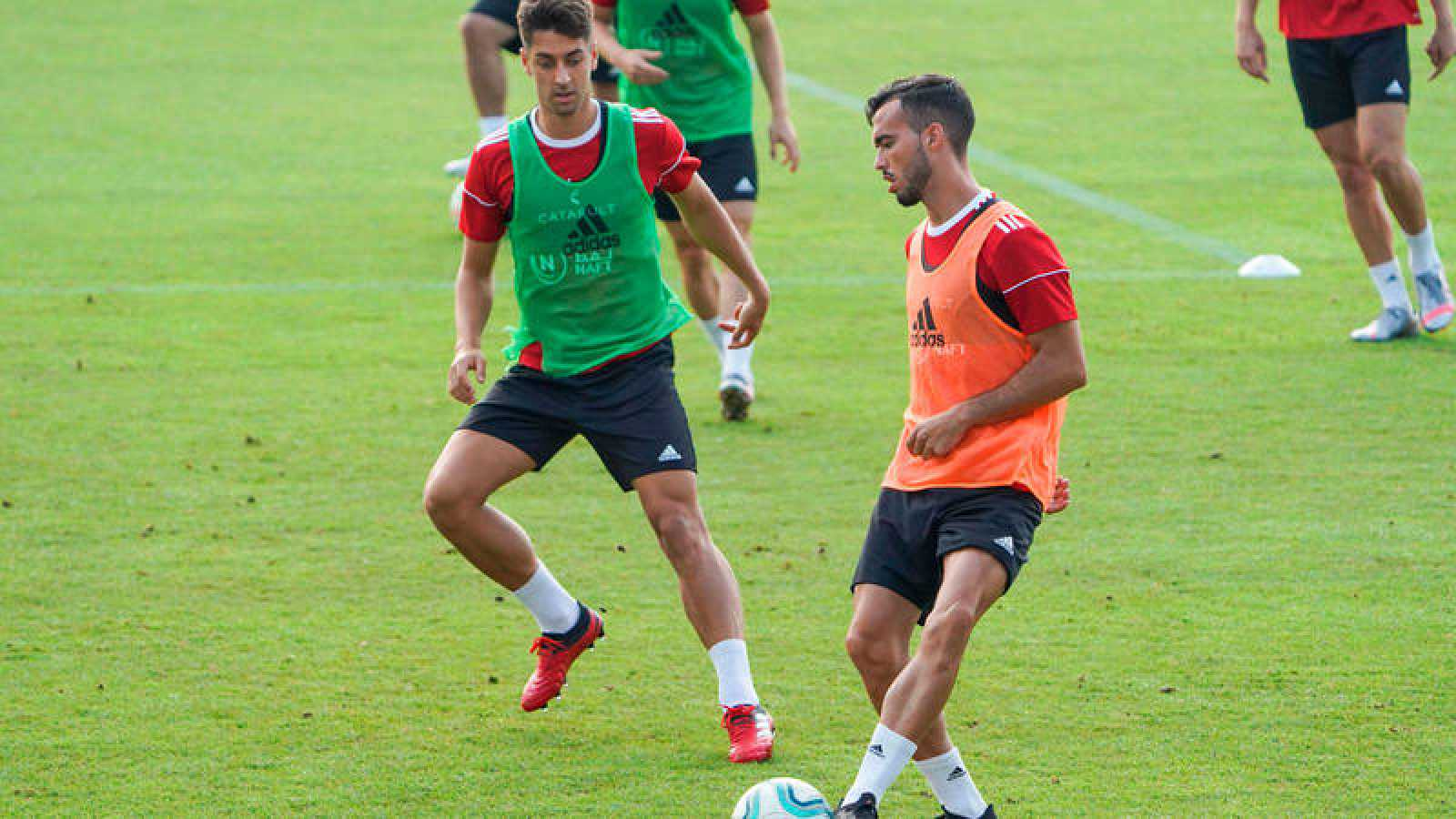 La UD Almería, entrenando