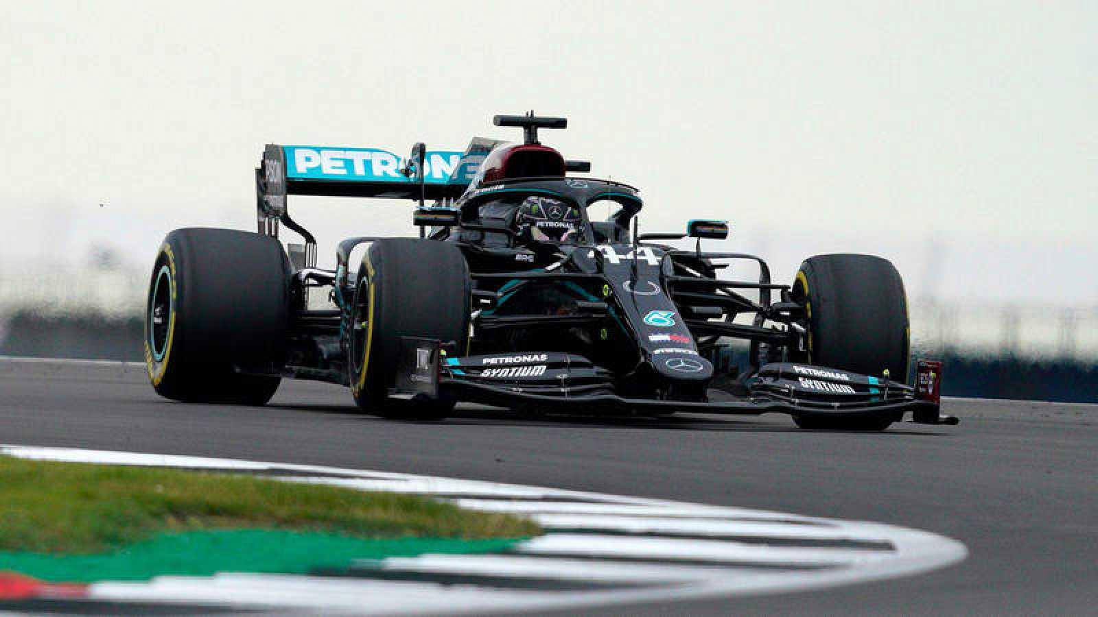 El británico Lewis Hamilton, en Silverstone.