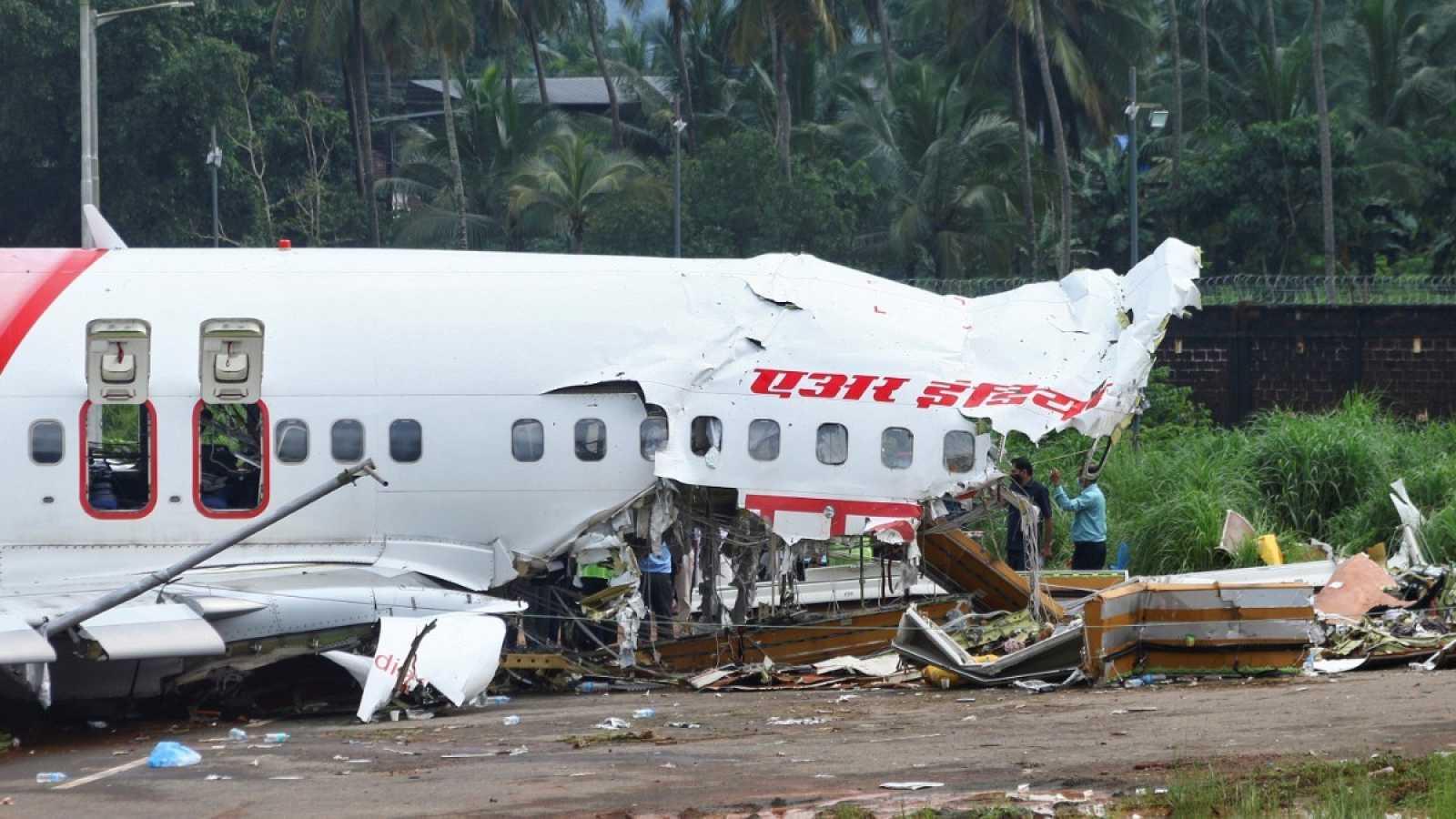 El avión accidentado en Calcuta, India