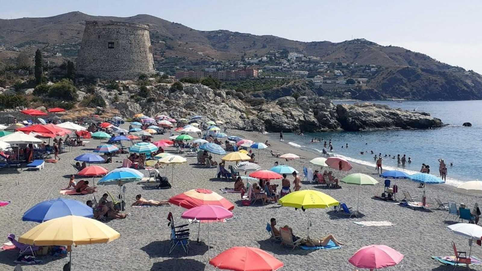 Playa de Motril (Granada) este sábado o de agosto
