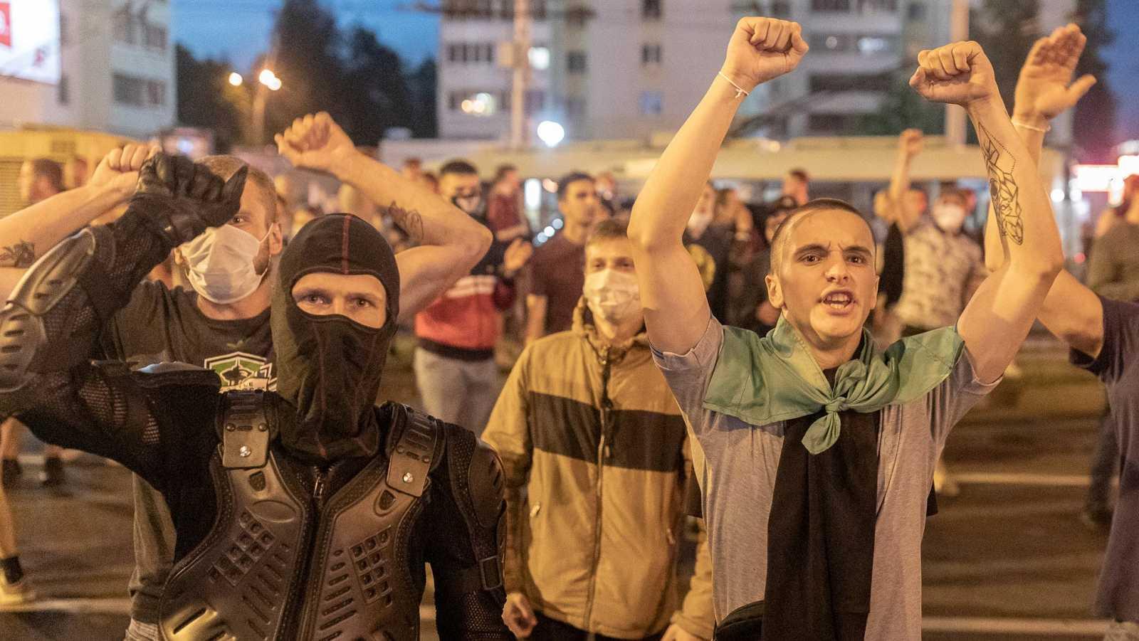 Protestas contra Lukashenko en Minsk