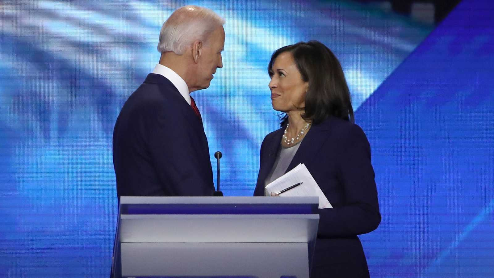 Joe Biden y Kamala Harris, juntos en un acto electoral en Texas en 2019