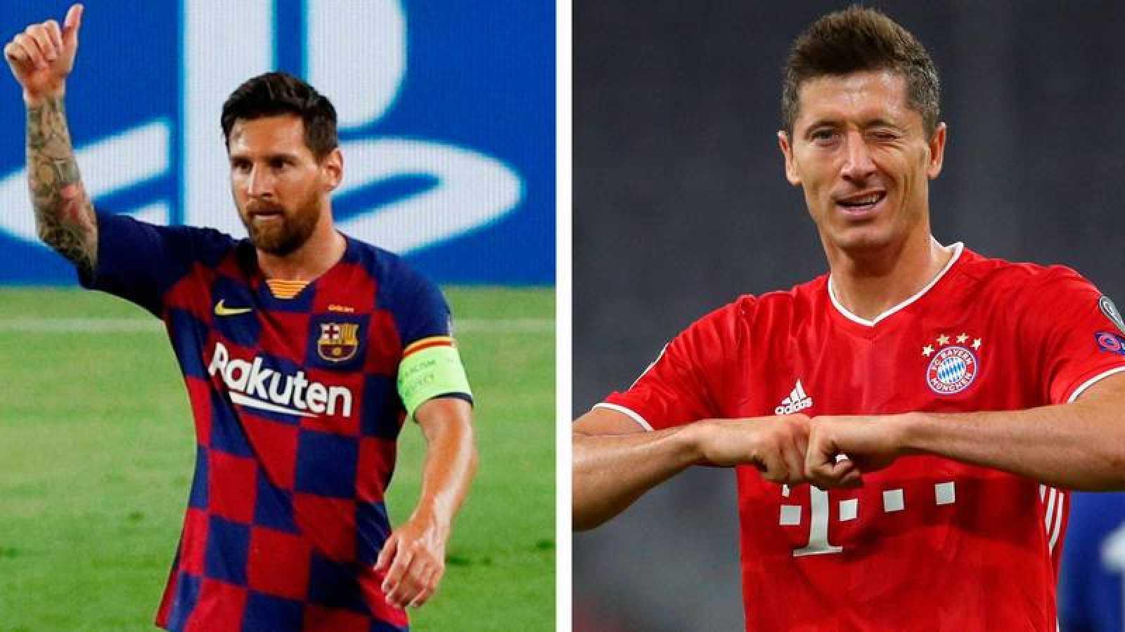 Leo Messi y Robert Lewandowski