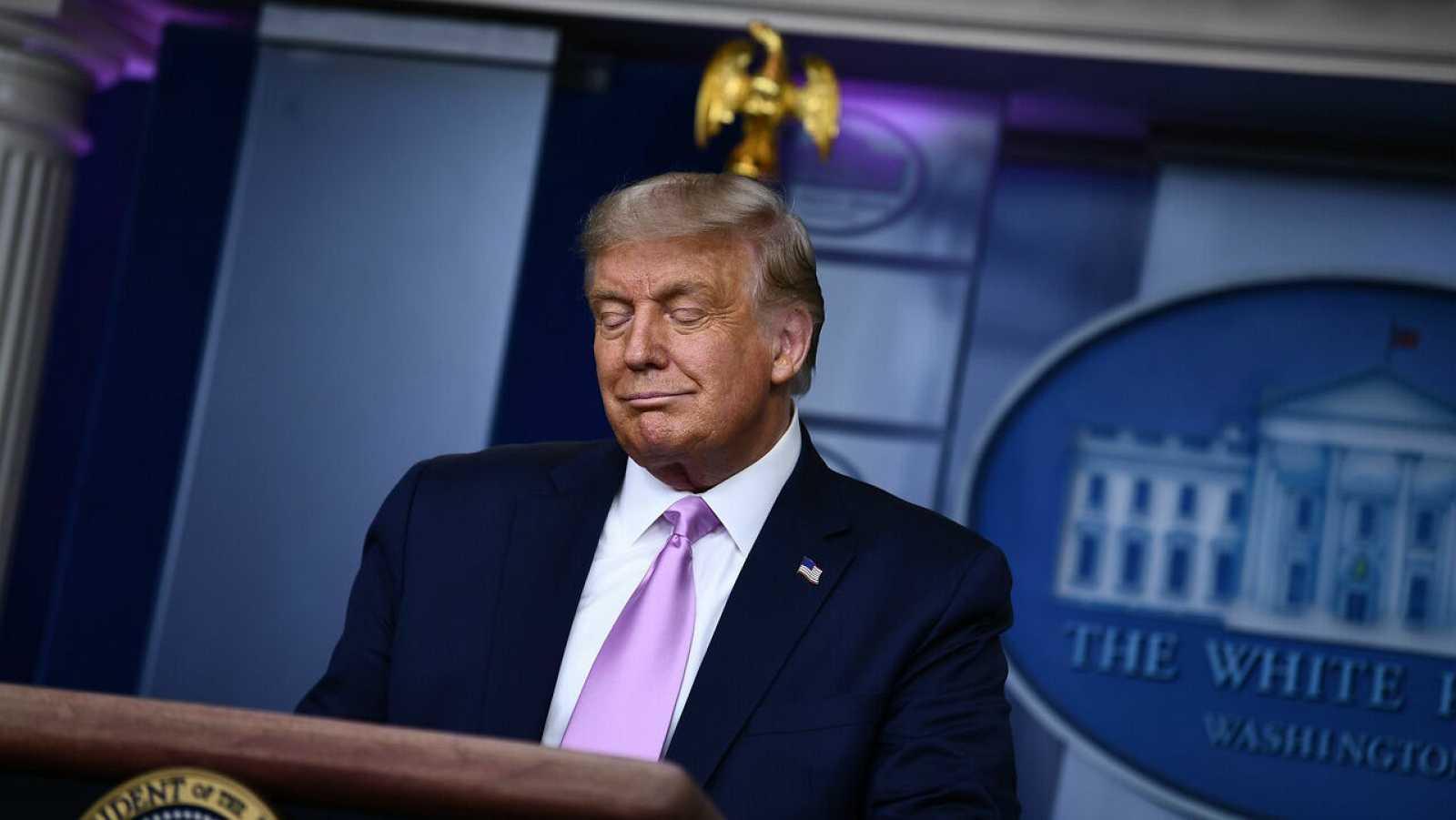 El presidente de Estados Unidos, Donald Trump, durante una conferencia de prensa en la Casa Blanca, en Washington, DC.