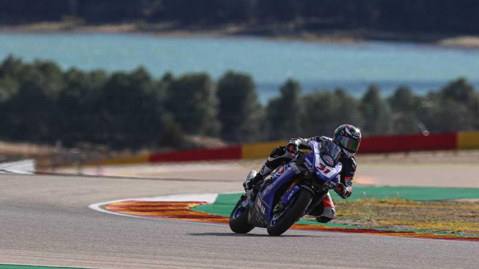 Imagen de los entrenamientos de pretemporada del WorldSBK en Motorland Aragón.